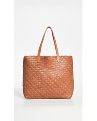 Madewell The Transport Tote: Woven Leather - Brown