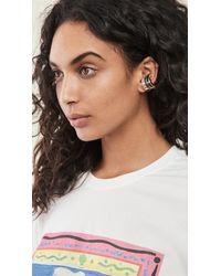 DEMARSON Eden Cuff Earrings - Metallic