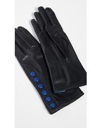 Agnelle Aileen Snap Detail Gloves - Black