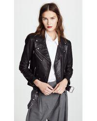 VEDA Jayne Classic Leather Jacket - Black