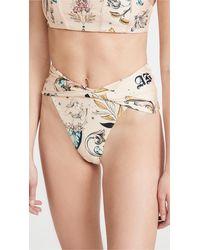 Agua Bendita Lily Mare Bikini Bottoms - Natural