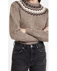 FRAME Fair Isle Crew Sweater - Multicolor