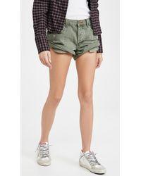 One Teaspoon Super Khaki Bandits Denim Shorts - Multicolor