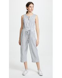 Splendid - Striped Jumpsuit - Lyst