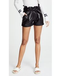 David Lerner - Paperbag Waist Belted Shorts - Lyst