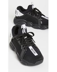 Moschino Logo Sneakers - Black