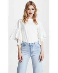 See By Chloé - Tee With Ruffle Sleeve - Lyst