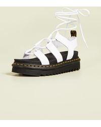 Dr. Martens Nartilla Gladiator Sandals - White