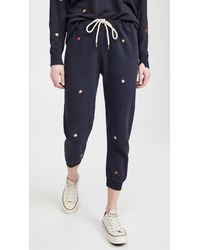 The Great The Cropped Sweatpants - Blue