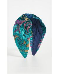 NAMJOSH Teal Burnout Headband - Multicolour