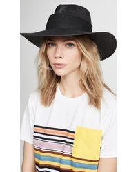 09efb13c58160 Janessa Leone Lane Fedora Hat in Black - Lyst