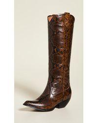 Jeffrey Campbell Calvera Tall Western Boots - Brown