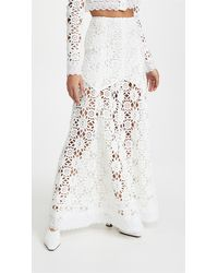 Macgraw Noble Skirt In Ivory - White