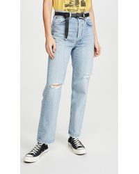 Agolde 90's Mid Rise Loose Fit Jeans - Blue