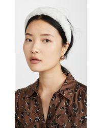 Lizzie Fortunato Faux Fur Headband - White
