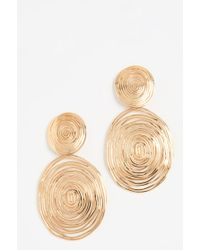 Gas Bijoux Wave Large Earrings - Metallic