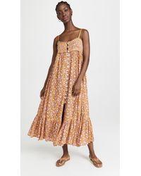 Free People Molly Jo Midi Dress - Multicolour