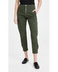 Veronica Beard Nita Pegged Trousers - Green