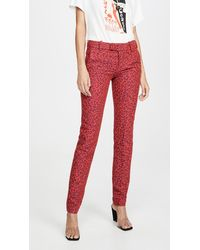 Zadig & Voltaire Prune Jac Leo Trousers - Red