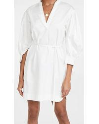 Rebecca Taylor - 3/4 Sleeve Belted Dress - Lyst
