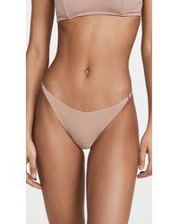 Fleur du Mal Seamless Lace Back Bikini Briefs - Multicolour