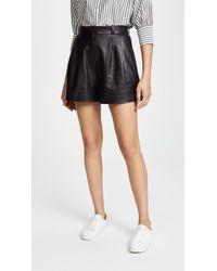 Nili Lotan - Roxana Leather Shorts - Lyst