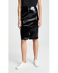David Lerner - Zip Front Pencil Skirt With Front Slit - Lyst