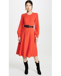Tory Burch Knit Crepe Dress - Red