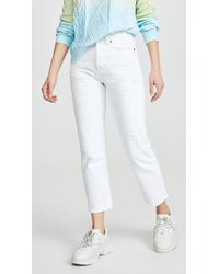 PRPS Relaxed Cropped Boyfriend Jeans - White