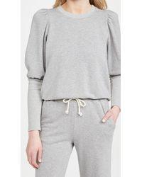 Sundry Puffed Shoulder Sweatshirt - Grey