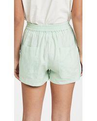 L.F.Markey Basic Linen Shorts - Green
