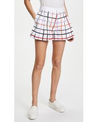 Ksenia Schnaider - Checked Shorts - Lyst