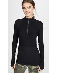 Alala Rise Quarter Zip Sweater - Black