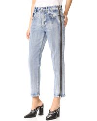 3.1 Phillip Lim Straight Jeans With Zipper - Blue
