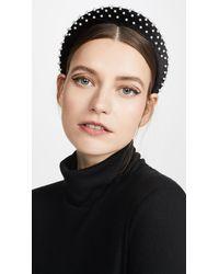 Lele Sadoughi - Velvet Pearl Padded Headband - Lyst