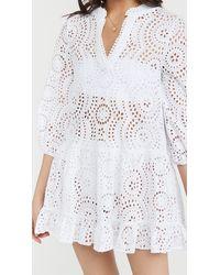 Shoshanna Umbrella Mini Dress - White