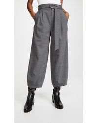 Tibi Sculpted Pant With Removable Belt - Grey