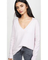 James Perse - Oversized Cashmere V Neck - Lyst