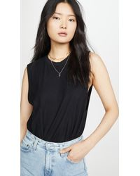 AG Jeans Zoey Muscle Tank - Black