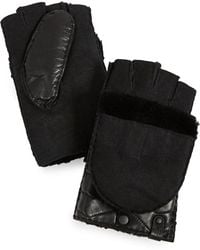 Mackage - Chukka Leather Pop-top Mittens - Lyst