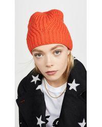 Rebecca Minkoff Travelling Rib Beanie - Orange