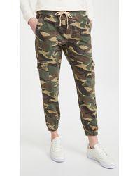 Sundry Camo Drawstring Sweatpants - Green