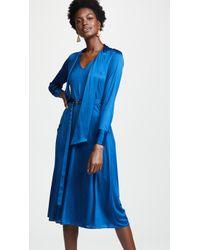Edition10 - Satin Shirt Dress - Lyst