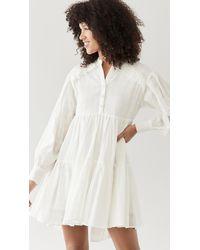 MINKPINK Erin Shirt Smock Dress - White
