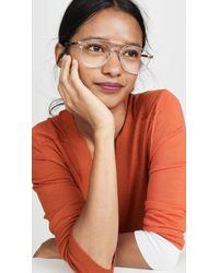 Linda Farrow Clear Acetate Aviator Glasses - Multicolour