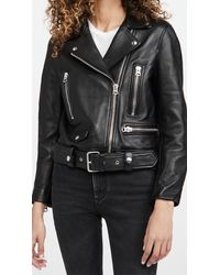 Acne Studios Mock Leather Outerwear - Black