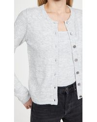 Line & Dot Haven Cardigan Sweater Set - Grey
