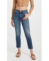 AMO Chelsea Crop Jeans - Blue