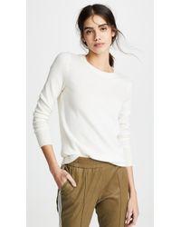 White + Warren Essential Cashmere Sweater - White
