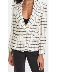L'Agence Kenzie Double Breasted Blazer - Multicolour